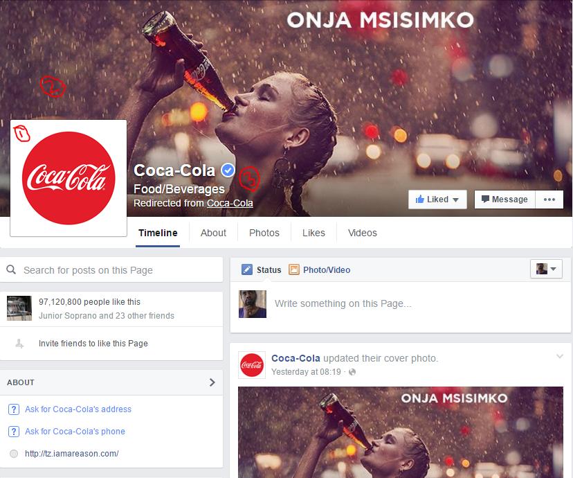 kurasa ya coca cola
