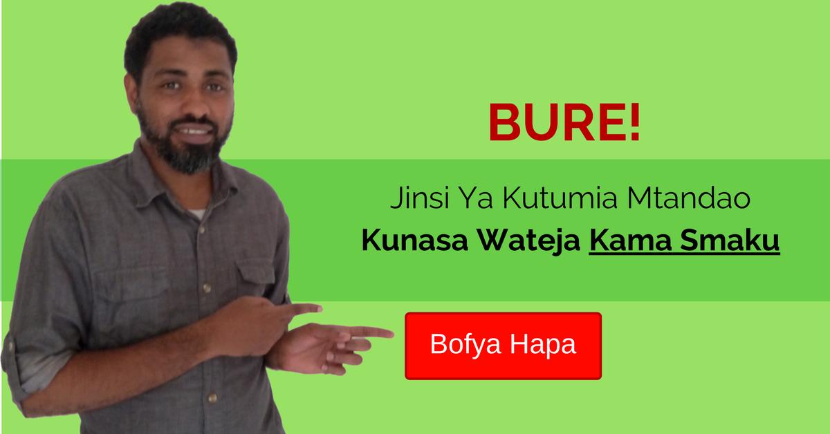 Jinsi Ya Kutumia Mtandao Kunasa Wateja Kama Smaku
